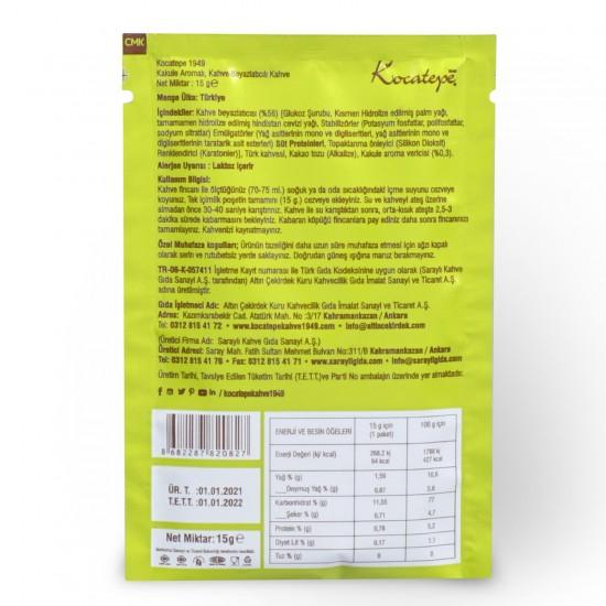 Kocatepe Kahve Dibek Kahvesi Tek İçimlik 15 gr X 24